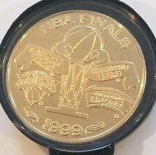 1999 Spurs NBA Finals Champs Highland Mint Coin 24kt Gold Overlay 0325 Numbered