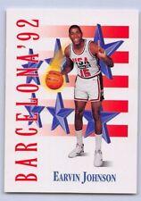 "1992  EARVIN ""MAGIC"" JOHNSON SKYBOX ""USA TEAM"" Basketball Card #533 - BARCELONA"