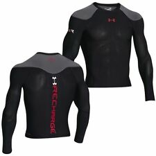 Under Armour 1252212 Mens UA Recharge Energy Shirt Black Long Sleeve Sz L NEW
