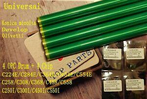 New !!4 drum 4 chip for konica bizhub c284c364c454c258c558c250ic450ic300i