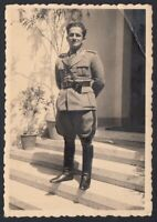 YZ7913 Cervinia 1938 - Ritratto di un militare - Foto epoca - Vintage photo