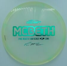 New Discraft Tour Series Paul Mcbeth Z Luna *Clear Green Tint* 173-174g