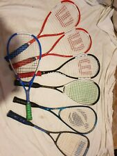 lot 7 raquette de squash 4 wilson ncode sting 1 decathlon 1 de tennis 1 vista