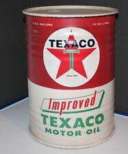 Texaco Motor Oil Tin Can Vintage Style Reproduction Texaco Star 5 gallon w/ lid