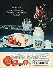 PUBLICITE ADVERTISING 104  1966  CLAUDEL   creme fraiche
