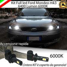 ABBAGLIANTE LED FORD MONDEO MK3 LED H1 6400 LUMEN ACCENSIONE RAPIDA 6000K