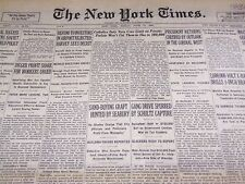1931 JUNE 19 NEW YORK TIMES - GANG DRIVE SPURRED BY SCHULTZ CAPTURE - NT 2204