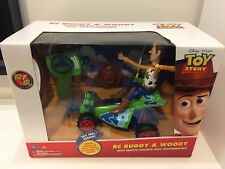 Rare Disney Pixar Toy Story RC Buggy & Woody w/ Remote Control New!