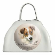 Jack Russell Terrier Dog Breed White Metal Cowbell Cow Bell Instrument