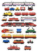 Lego MOC 25x Lego Micro Scale Train Wagon 9V - 12V PDF Instruction only