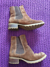 Timberland brown suede leather ankle boots Smart Comfort On Trend size 5.5 UK