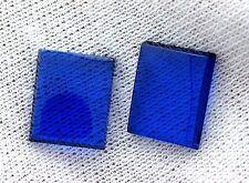 ONE 12mm x 10mm Flat Rectangle Synthetic Blue Spinel Corundum Cabochon Gemstone