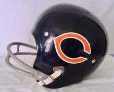 HNFL Rawlings CHICAGO BEARS Youth Football Helmet Blue w Chin Strap & Guard Sz S