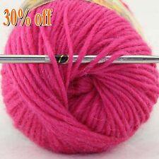 Lot of 1 Skein x50gr NEW Chunky Hand Knitting Rainbow Wool Shawls Yarn Colorful