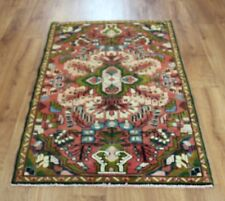 Traditional Vintage Wool Handmade Classic Oriental Area Rug Carpet 125 X 80 cm