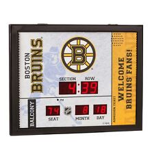 Boston Bruins Bluetooth Scoreboard Wall Clock Free Shipping