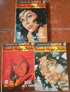 LAGRIMAS RISAS Y AMOR classics RUBI set 3 comics YOLANDA VARGAS DULCHE evil SEXY