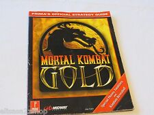 Mortal Kombat Gold Prima Publishing Staff RARE GAME GUIDE STRATEGY strat