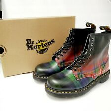 Dr. Martens 1460 Black Watch Red Tartan Plaid Leather Boots Womens US 8