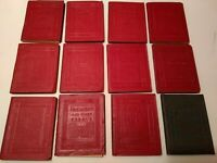 Little Leather Library LOT 12 classics red Haas editions,Longfellow,Burns, more