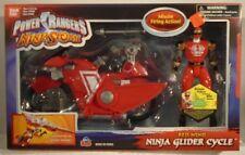 Power Rangers Ninja Storm Transforming Ninja Glider Cycle With Red Wind Ranger