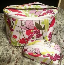 """CLINIQUE (2 pc. set) Cosmetic bags, large & Small -10""""x 4""""x5.5"""""""