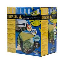 Coolaroo toldo vela triángulo protección solar 3,6x3,6x3,6m arena incl. accesorios-nuevo