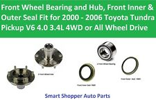 Front Wheel Bearing, Hub, Seal for 2000 2001 2002 2003 2004 -2006 Tundra V6 3.4L