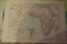 1900 Original Vintage Map Vidal-Lablache Afrique Continent Congo Madagascar
