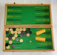 Jeu de jacquet - backgammon ancien en bois jeujura
