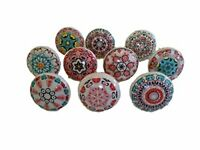 10 x Mix Vintage Look Flower Ceramic Knobs Door Handle Cabinet Drawer Cupboard