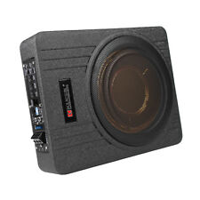 """10"""" Inch 12V Car Under Seat Ultra-Thin Active Amplifier Subwoofer Slim Amp 600W"""