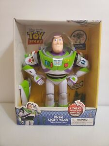 "Buzz Lightyear 12"" Toy Story Talking Figure Thinkway Toys w/ 2 Army Men RARE!!!"