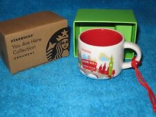 STARBUCKS CHRISTMAS ORNAMENT NEW BOXED - YOU ARE HERE COLLECTION MUG LONDON