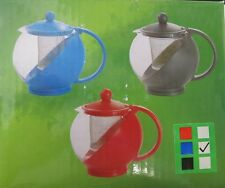 Housewares Blue Glass Teapot & Stainless steel Strainer Filter 750ml