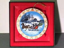 P Buckley Moss The Sleighride Ornament 1450/5000 1992
