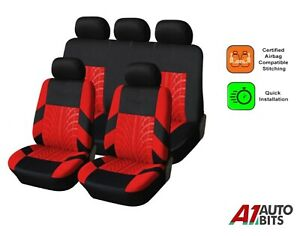 Car Seat Covers Protectors Universal washable Dog Pet full Set in Red - Black