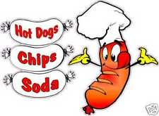Hot Dogs Combo Chips Soda Restaurant Concession Food Truck Cart Vinyl Decal 14""