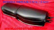 HONDA  CA77 CA72 250 305 DREAM BENLY SEAT COVER KIT W/ NEW CHROME TRIM STRIP