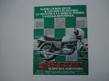 advertising Pubblicità 1980 MOTO SUZUKI GS 450 S