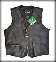 Gilet jacket en cuir sans manche - S M L XL 2XL 3XL 4XL 5XL 6XL 7XL leather vest