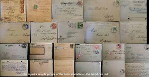 1863 - 1960 Germany DDR North Dist Postal History Postmarks Postcards Machine