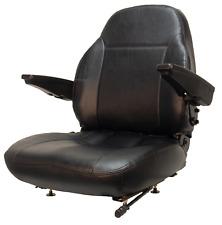 Replacement Tractor Seat w/ Armrests John Deere Case IH Massey Ferguson Ect.