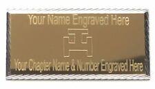 Royal Arch Triple Tau Diamond Cut Masonic Order Case Name/Lodge Plate (T109)