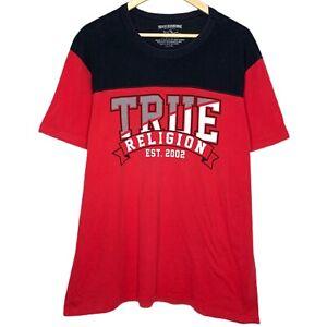 True Religion Team Work Adults Unisex Red T-Shirt Size XXL