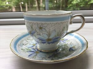 Tuscan Fine English Bone China Devon Teacup and Saucer Set Signed & Numbered