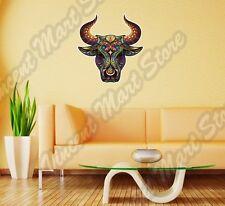 "Bull Head Abstract Ornament Colorful Wall Sticker Room Interior Decor 22""X22"""