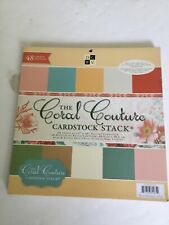DCWV CORAL COUTURE Stack 48 Glamorous Prints 12 x12 Metallic, Glitter, Texture