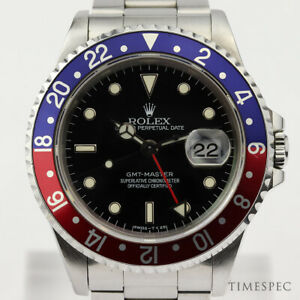 "ROLEX GMT-Master, Ref 16700, ""Pepsi Bezel'' , Box & Papers. Year 1996"