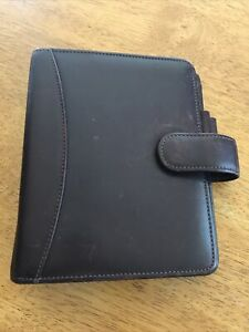 """Franklin Quest Brown Nappa Leather Personal Planner 6 Rings 1.25"""""""